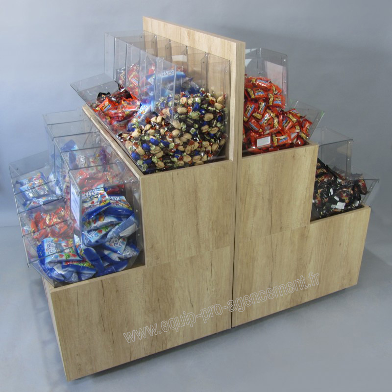 Equipez vos magasins bio avec nos distributeurs vrac for Meuble en vrac