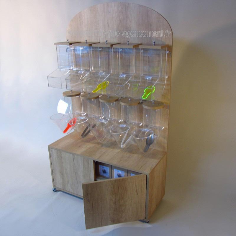 Equipez vos magasins bio avec nos distributeurs vrac for Bureau meuble en vrac