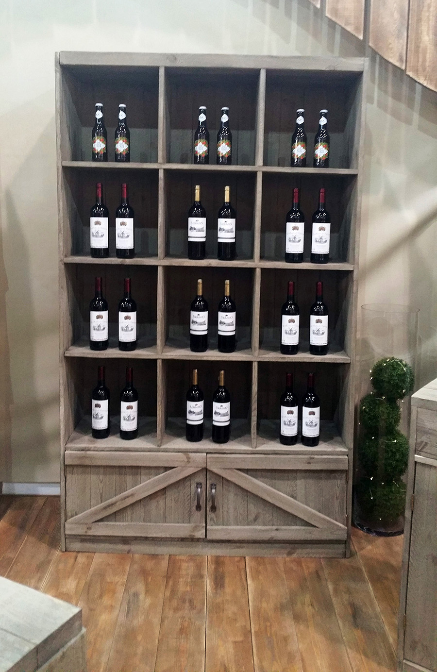 armoires bois rustique pour picerie fine et caviste. Black Bedroom Furniture Sets. Home Design Ideas