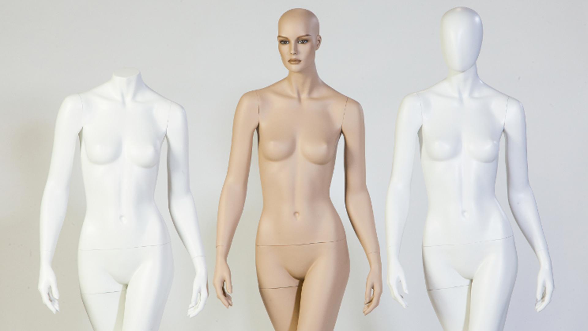 mannequin de vitrine homme femme Chanel