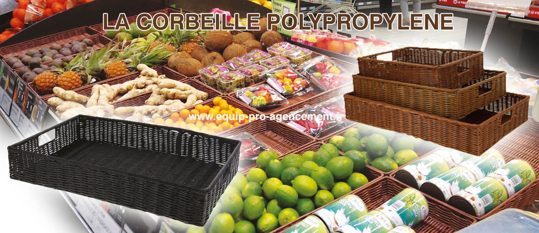 corbeille polypropylene theatralisation manne fruit legume