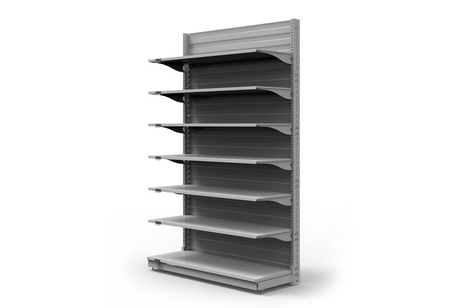 gondole et mobilier m tallique de magasin system 25. Black Bedroom Furniture Sets. Home Design Ideas